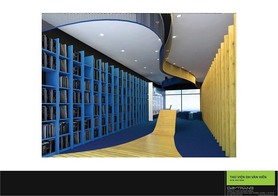 Thiết kế nội thất thư viện ĐH Văn Hiến 02