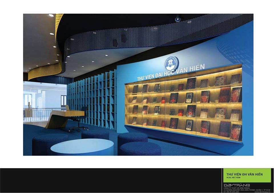 Thiết kế nội thất thư viện ĐH Văn Hiến 04
